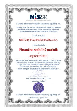 certifikát nissr 1