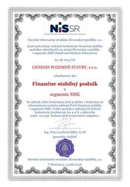 certifikát nissr 2