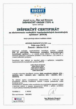 certifikát eucert