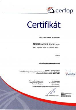 certifikát certop 1