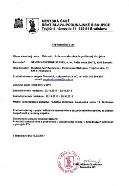 Referenčný list MČ Podunajské Biskupice (1)