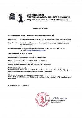 Referenčný list MČ Podunajské Biskupice (2)