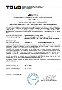 TSUS licencia otvory