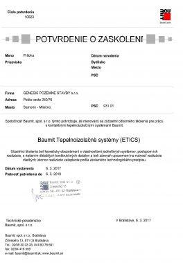 Zaškolenie Baumit Tepelnoizolačné systémy 2
