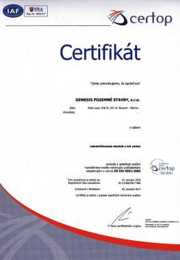 certifikát certop 33