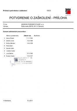 Zaškolenie Baumit Tepelnoizolačné systémy (ETICS) príloha