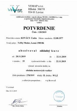 2 Potvrdenie Obsluha mot vozíkov Kovács
